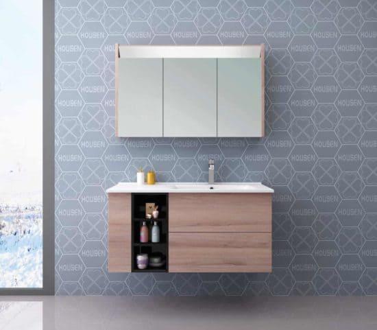 ארון אמבטיה דגם אלוני, עץ כיור בצד