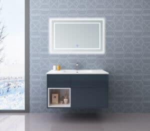 """ארון אמבטיה 90 ס""""מ דגם פלרמו אפור"""
