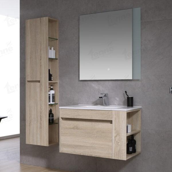 ארון אמבטיה צבע אלון