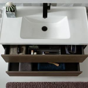 ארון אמבטיה דמוי עץ דגם יפתח פתיחת מגירות