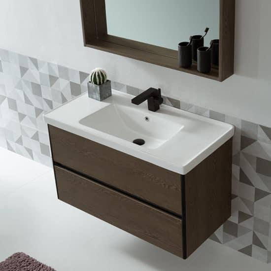 ארון אמבטיה דמוי עץ דגם יפתח צד