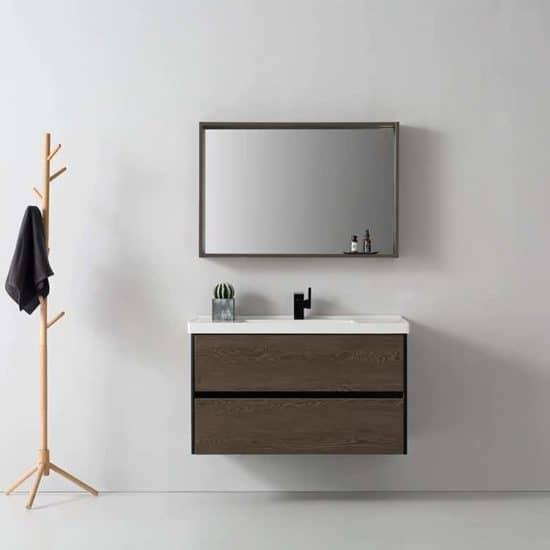 ארון אמבטיה דמוי עץ דגם יפתח