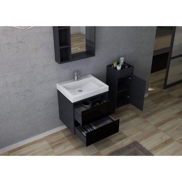 ארון אמבטיה תלוי דגם מעיין שחור