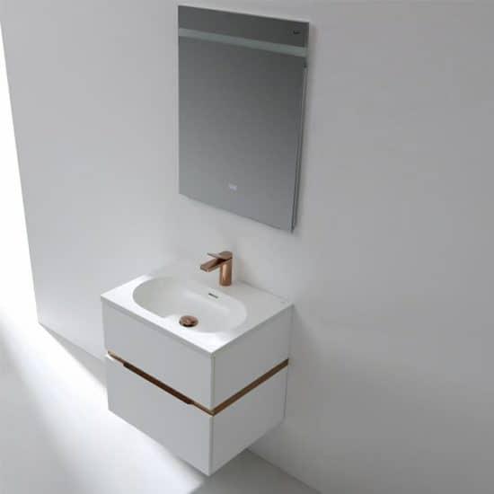 ארון אמבטיה מודרני לבן מבריק דגם נאור