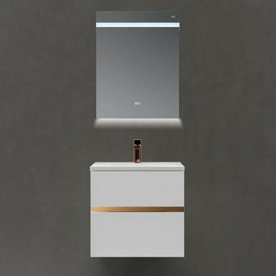 ארון אמבטיה מודרני לבן דגם נאור