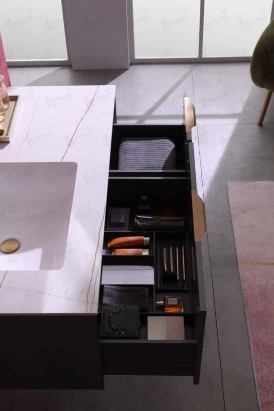 ארון אמבטיה מודרני דגם שרון פתיחת מגירות
