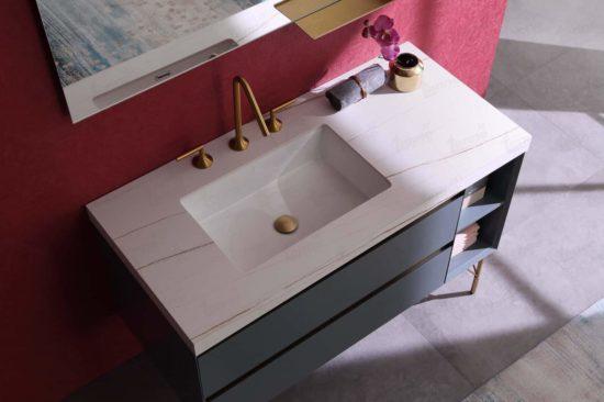 ארון אמבטיה מודרני דגם תמר מלמעלה,