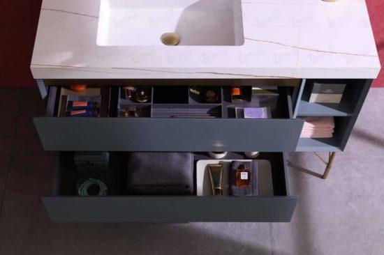 ארון אמבטיה מודרני דגם תמר פתיחת מגירות