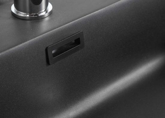 ארון אמבטיה שחור דגם אוניקס כיור