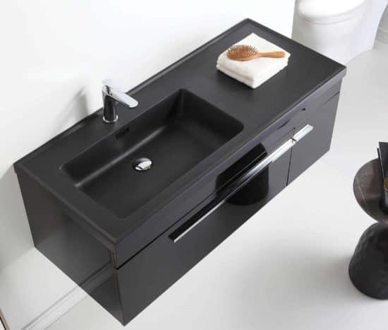 ארון אמבטיה שחור דגם אוניקס