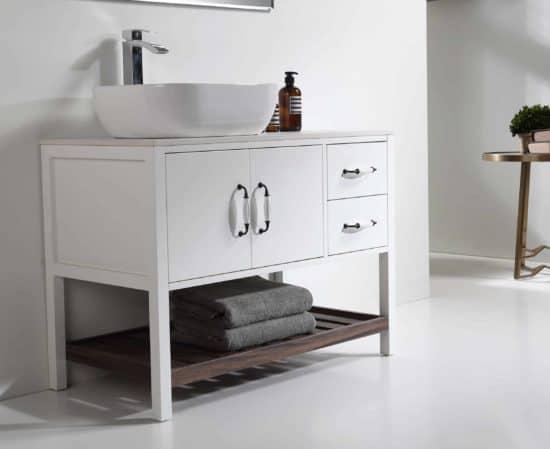 """ארון אמבטיה עומד דגם ונילה 100 ס""""מ"""