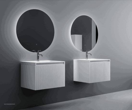 ארון אמבטיה מודרני דגם ליין לבן