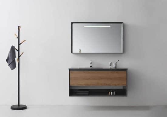 ארון אמבטיה שחור דגם סער