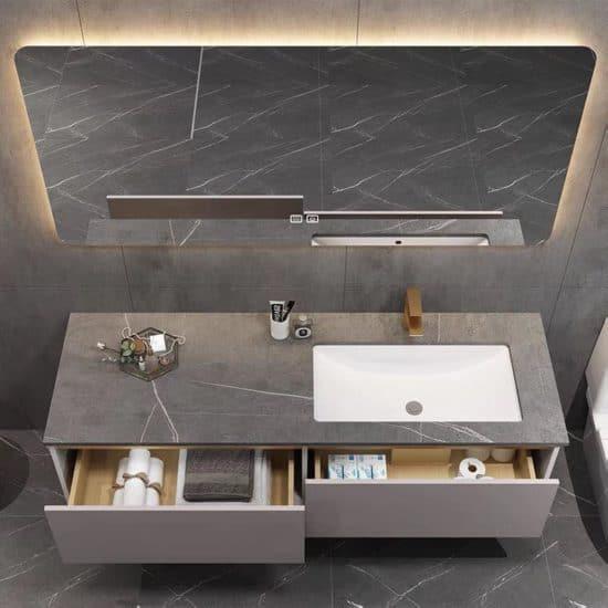 ארון אמבטיה תלוי דגם אסוס פתיחה