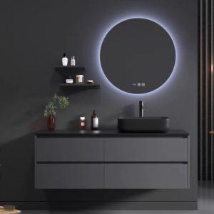 ארון אמבטיה שיש שחור