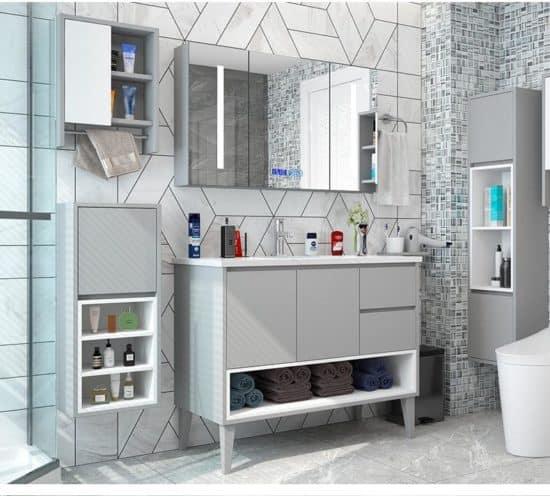 ארון אמבטיה עומד דגם לוטטי צבע אפור