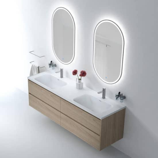 ארון אמבטיה תלוי מאירוני צד