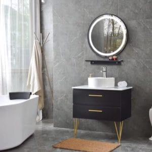 ארון אמבטיה מליאנקר שחור